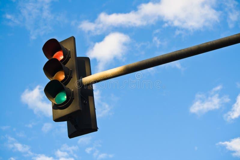 Download Traffic light stock image. Image of lamp, signal, blue - 6127633