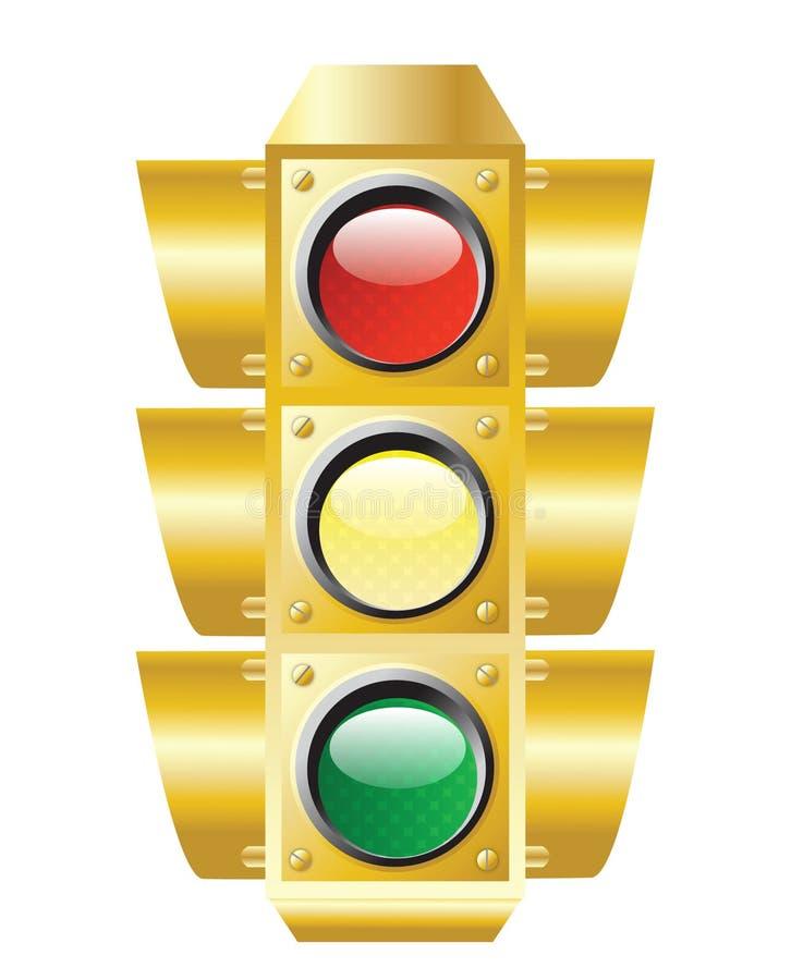 Traffic Light. Raster illustration of traffic light on white stock illustration