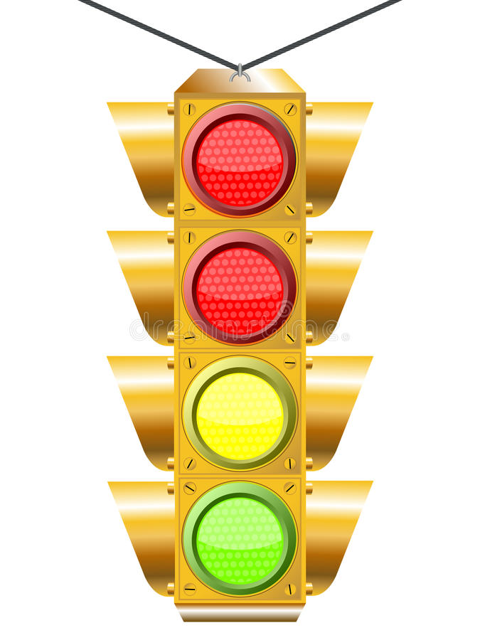 Download Traffic light with four stock vector. Illustration of clip - 14971566