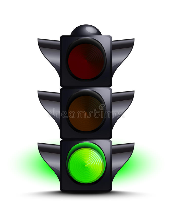 Download Traffic light on green stock vector. Image of control - 21253258