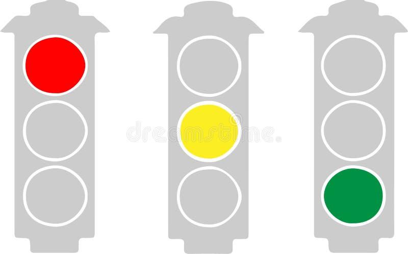 Traffic light icon on white background. Light,lamp,jam stock illustration