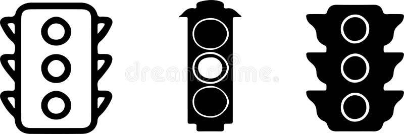 Traffic light icon on white background. Light,lamp,jam royalty free illustration