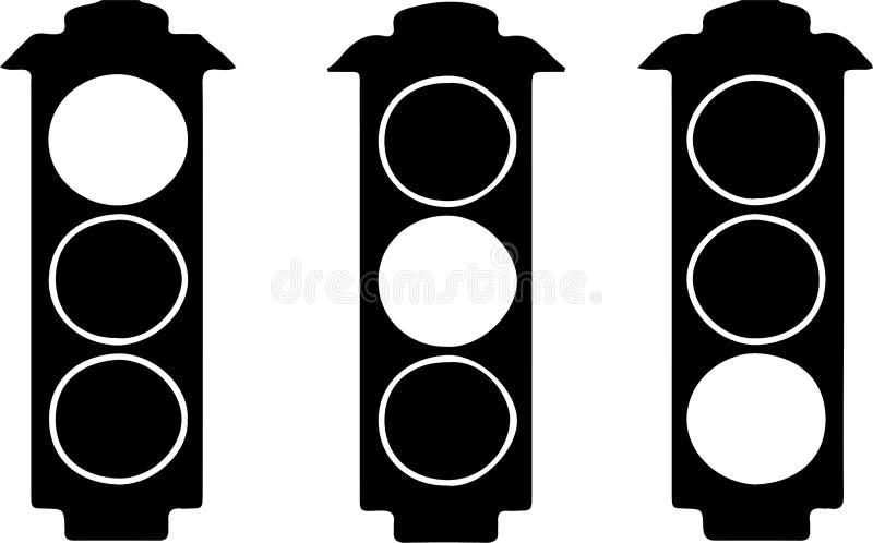 Traffic light icon on white background. Light,lamp,jam vector illustration