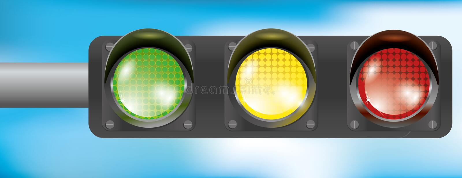 Traffic Light Isolated stock images