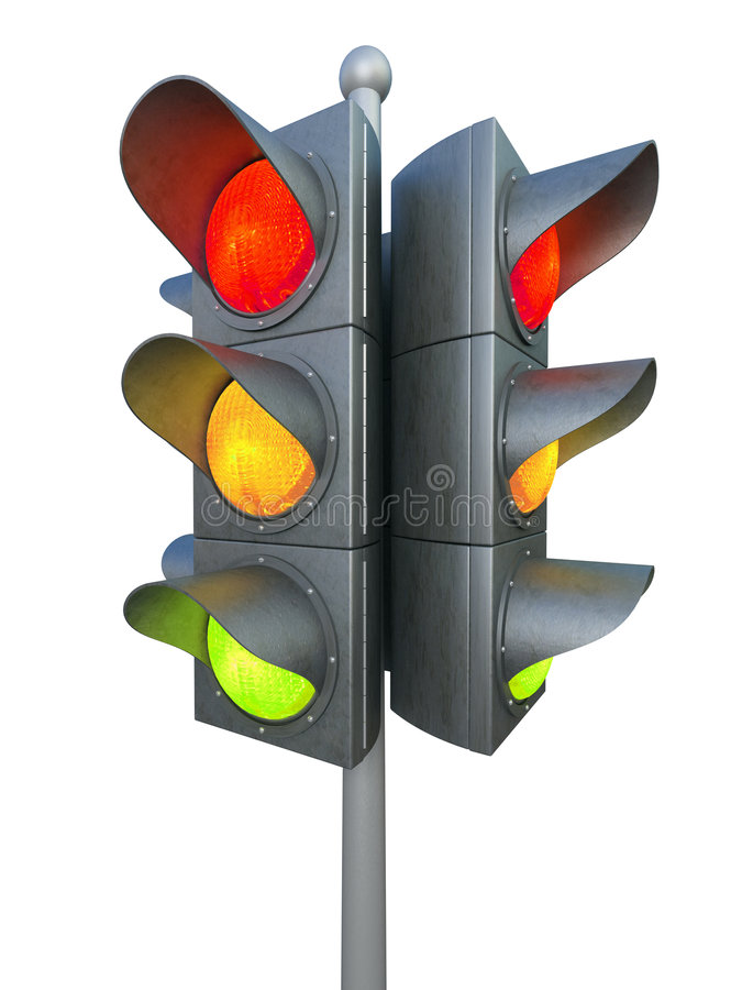 Download Traffic Light Isolated On White Background Stock Illustration - Image: 7266628
