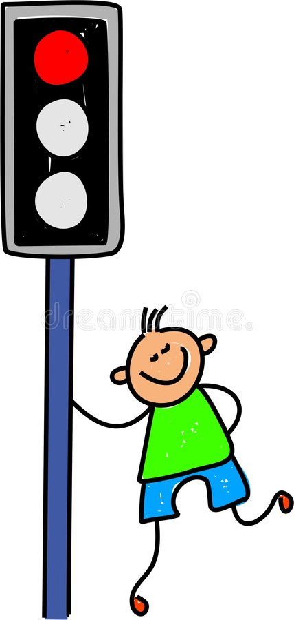 Traffic light kid royalty free illustration