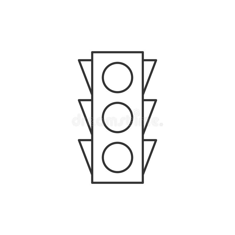 traffic light outline icon stock vector  illustration of isolated