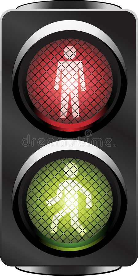 Traffic light for people royalty free stock photo