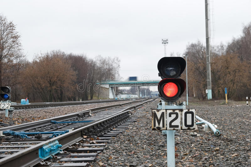 Download Traffic Light On The Railway Stock Photo - Image of street, transport: 12206250