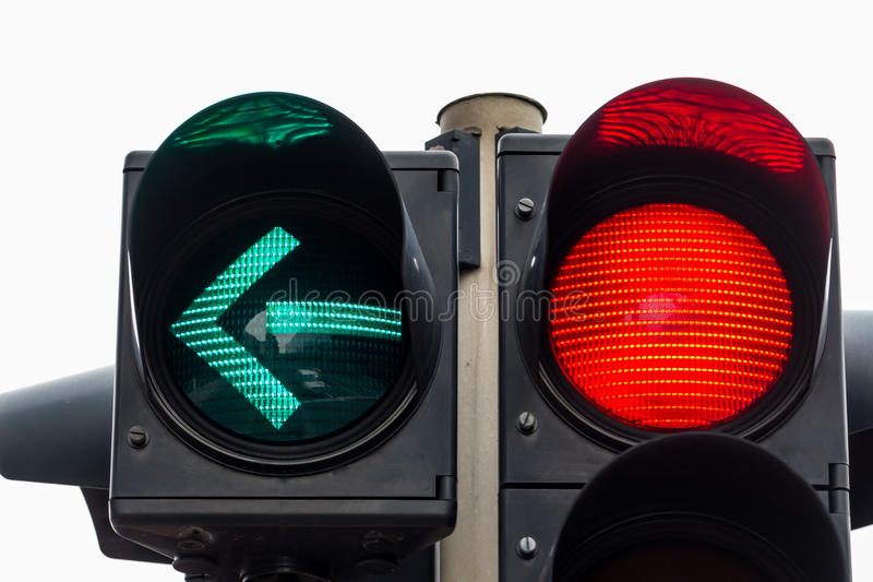 Traffic light with red light. A traffic light shows red light. symbolic photo for maintenance, end stock photo