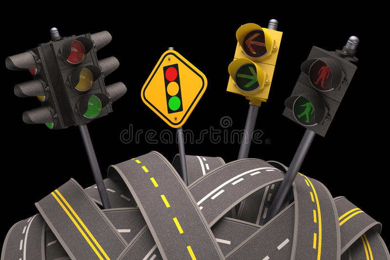 Download Traffic Light stock illustration. Image of maze, traffic - 31782406