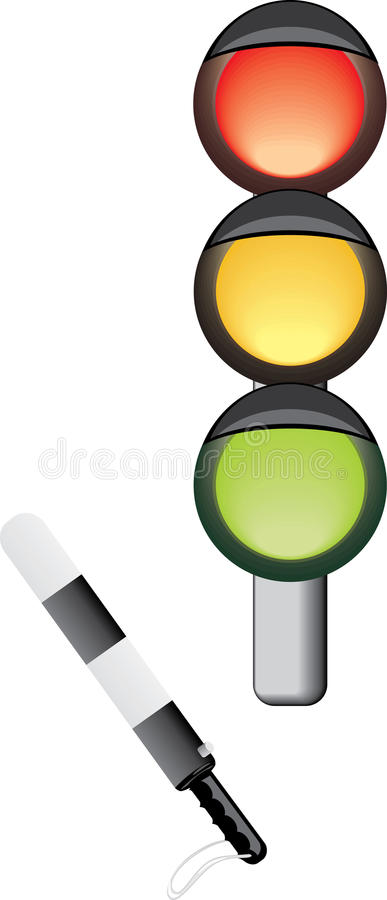 Traffic-light and rod royalty free stock images