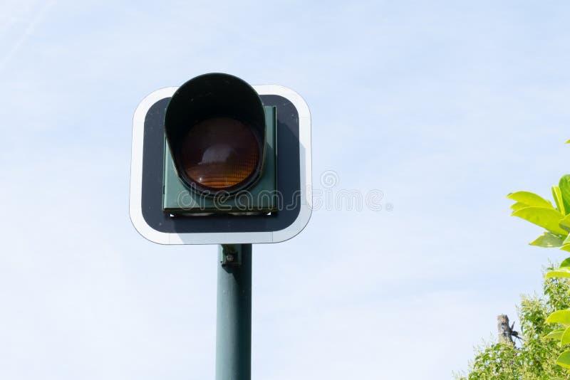 Traffic light sign road Orange royalty free stock image