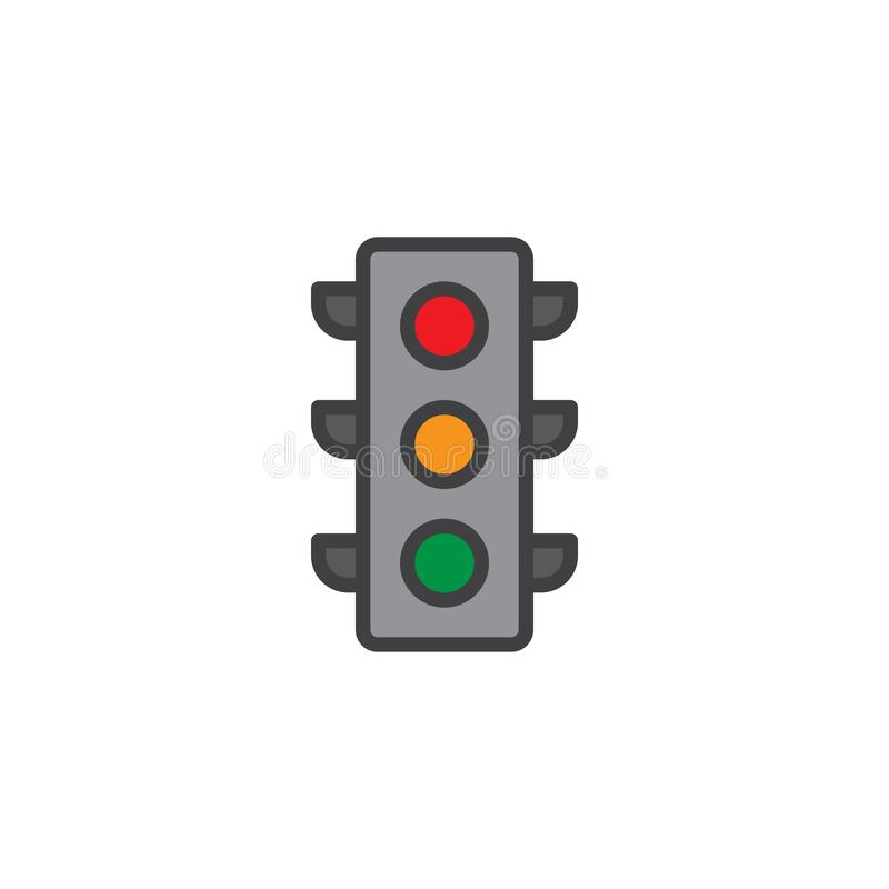 Free Traffic Light Signal Filled Outline Icon Royalty Free Stock Photography - 106994317