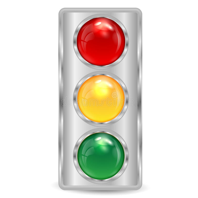 Traffic-light of silvery color stock illustration