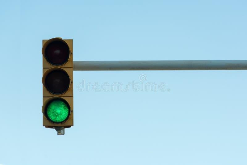 Traffic light on a sky background stock photos