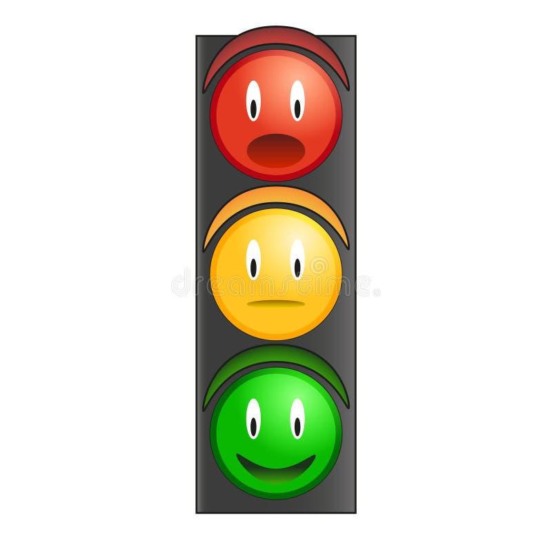 Traffic light smiley vector royalty free stock photos