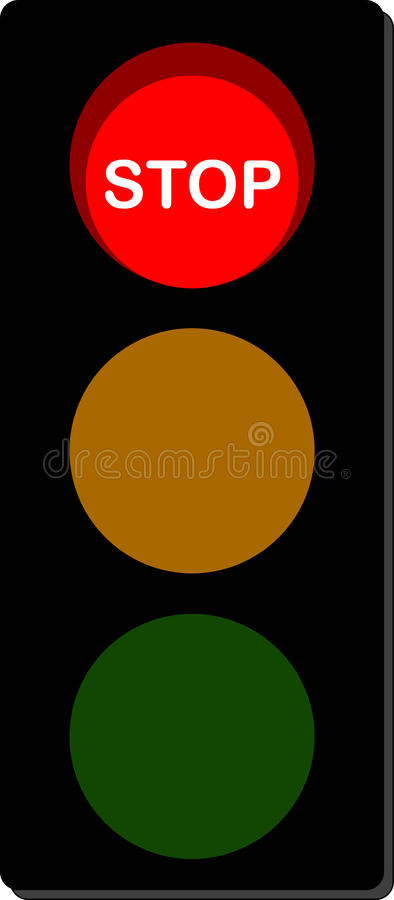 Traffic Light stop signal vector illustration
