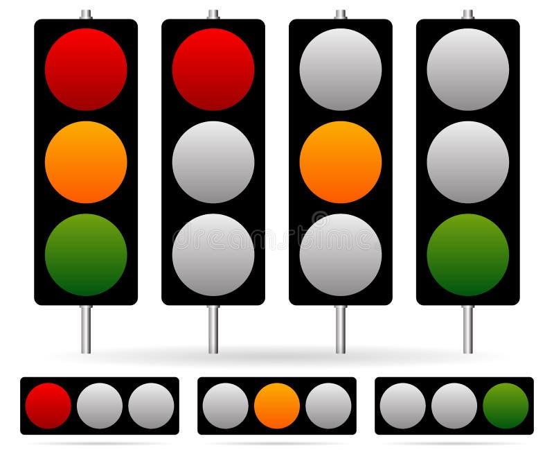 Traffic Light / Traffic Lamp set. Vector Illustration. Eps 10 Vector Illustration of Traffic Light / Traffic Lamp set. Vector Illustration stock illustration
