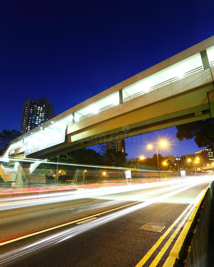 Download Traffic Light Trail On Highway Stock Photo - Image: 28726848