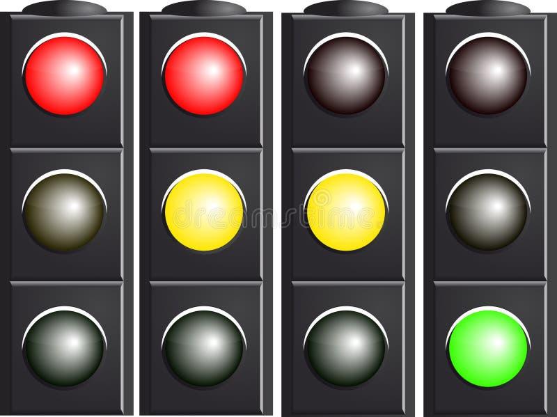 Download Traffic Light. Variants. stock vector. Image of illuminated - 17441271