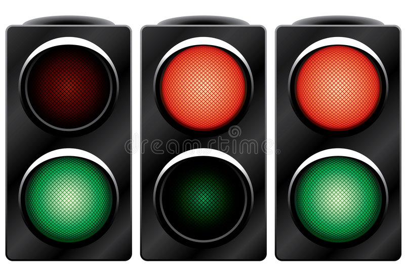 Download Traffic light. Variants. stock vector. Image of stand - 4313853
