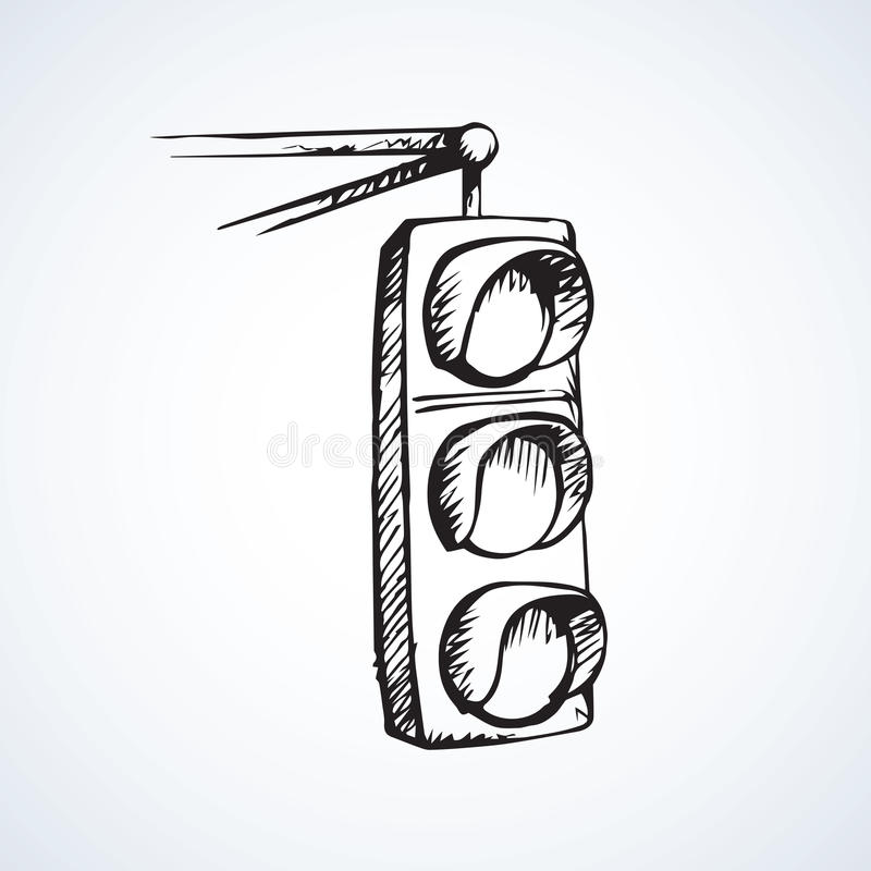 traffic light  vector drawing stock vector