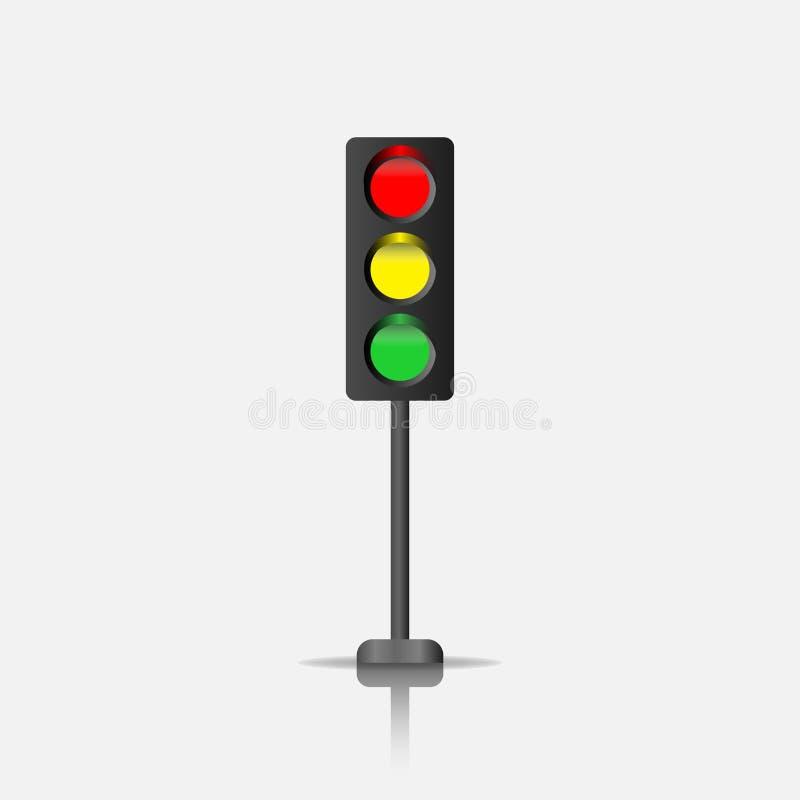 Traffic light vector icon. royalty free illustration