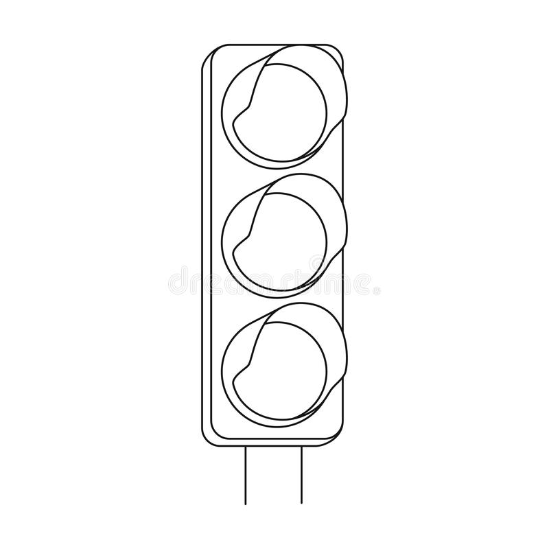 traffic light for vehicles car single icon in outline