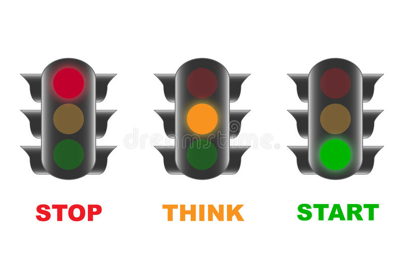 Traffic lights royalty free illustration