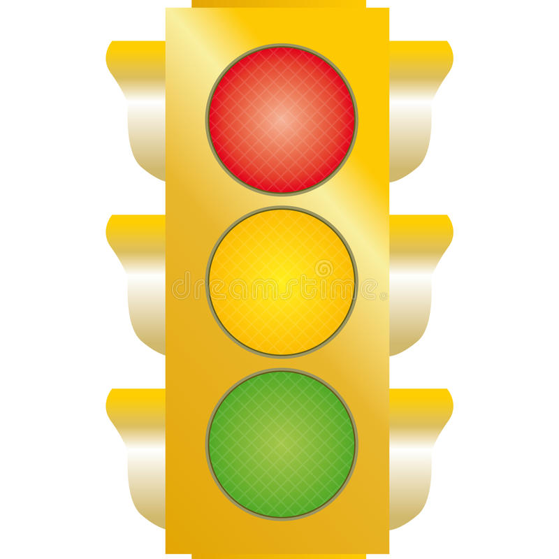 Download Traffic lights stock illustration. Image of driving, yellow - 18020231