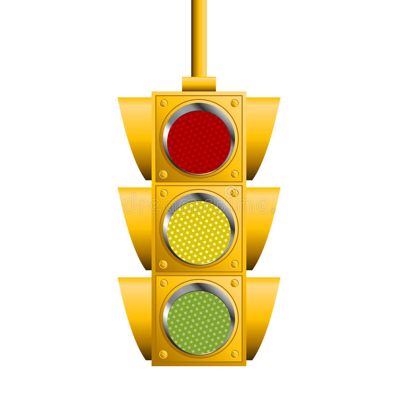 Download Traffic lights stock vector. Image of semaphore, intersection - 19117731