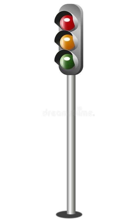 Download Traffic lights stock vector. Image of orange, street - 20379653
