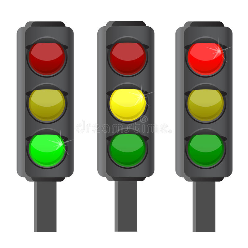 Download Traffic lights stock vector. Image of isolated, orange - 22029008