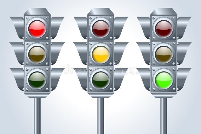 Download Traffic lights stock vector. Illustration of city, lamp - 22252243