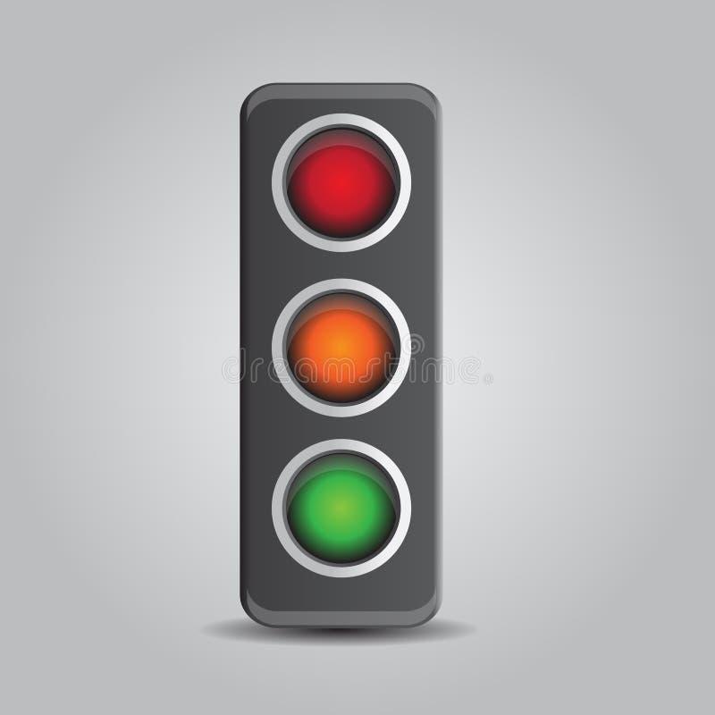 Download Traffic lights stock vector. Image of warning, light - 25127045