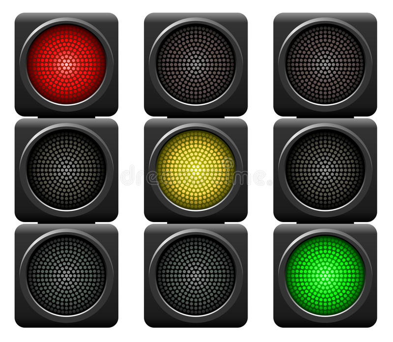 Download Traffic lights stock vector. Image of forbid, safety - 25680478