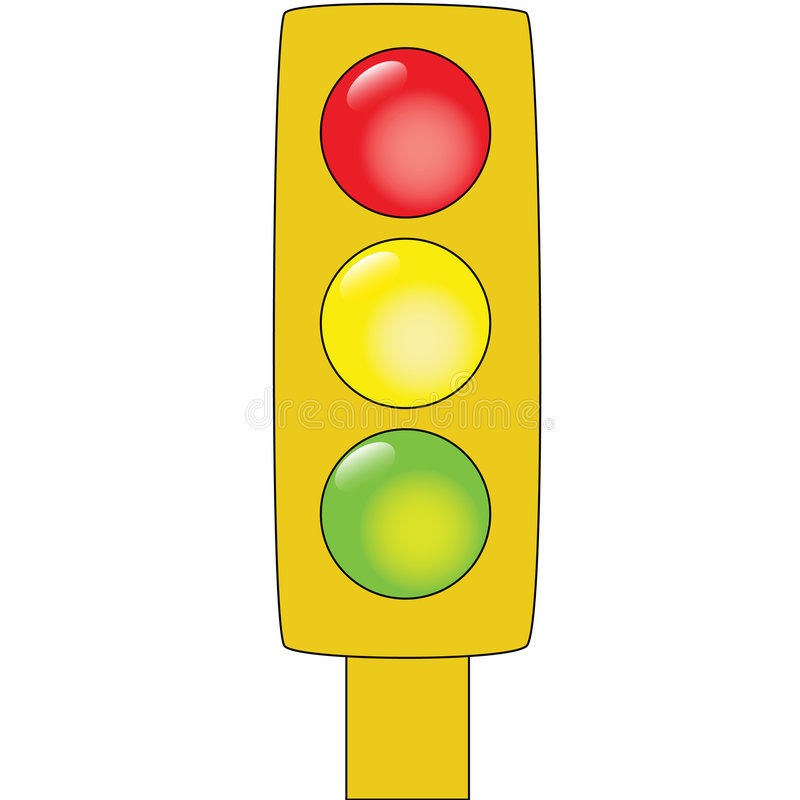 Download Traffic lights stock vector. Image of order, rules, cartoon - 5639805