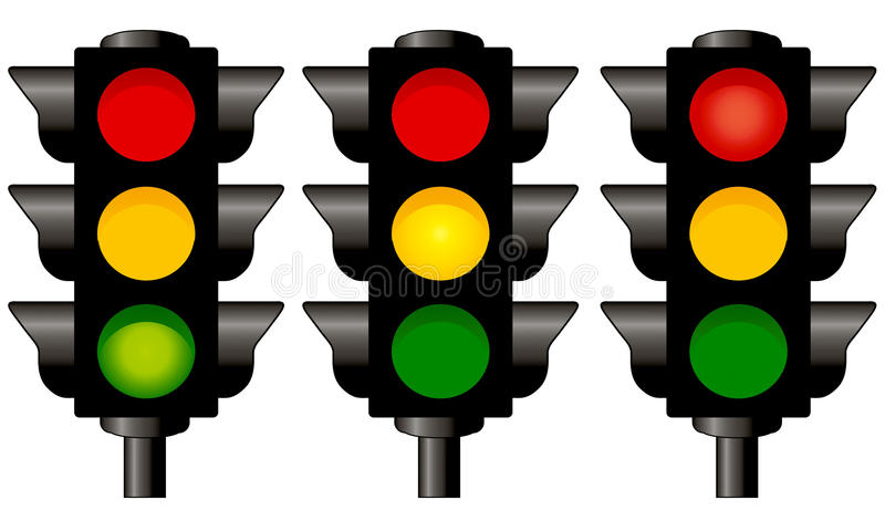 Download Traffic lights stock vector. Image of alert, attention - 9987390