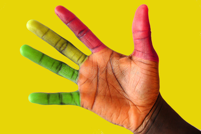 Traffic Lights Fingers#2 Stock Photo