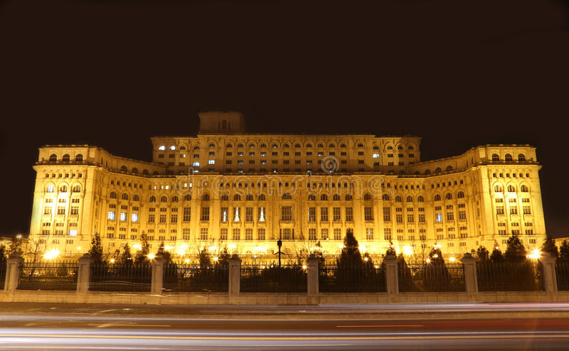 Travel to Romania: Bucharests Palace of Parliament royalty free stock images
