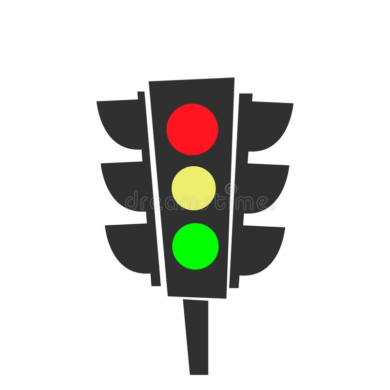 Traffic lights icon. cartoon design. vector graphic. EPS10 royalty free illustration