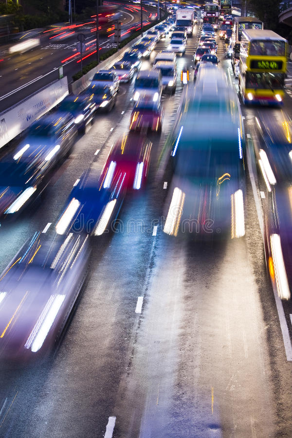 Free Traffic Lights In Motion Blur Stock Images - 15548874