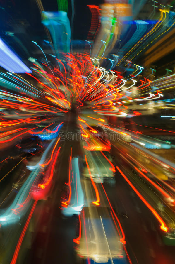 Free Traffic Lights In Motion Blur Royalty Free Stock Image - 21827136