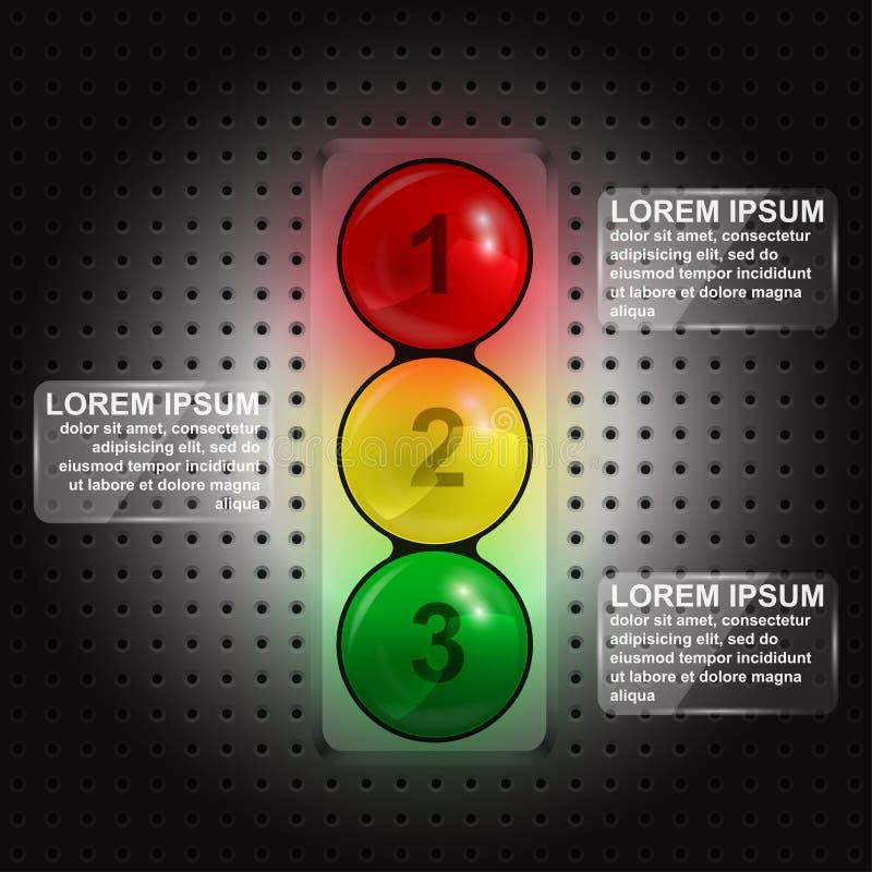 Traffic lights infographic stock vector. Illustration of info - 36703951