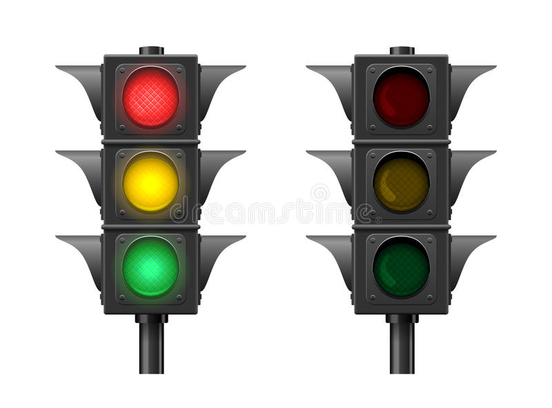 Download Traffic lights stock vector. Image of regulate, street - 30151827