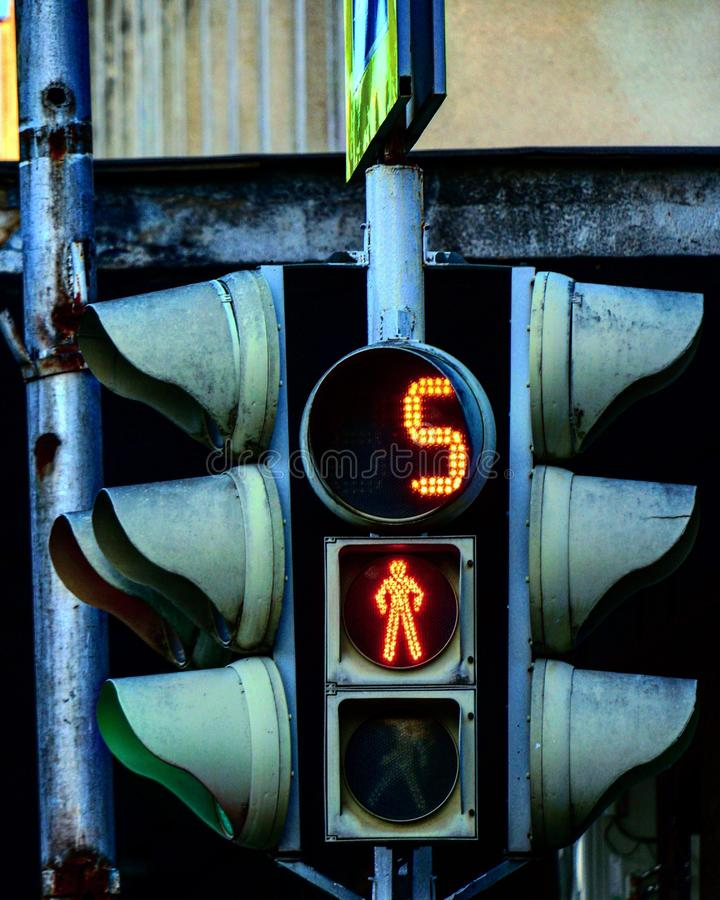 The traffic lights royalty free stock photography