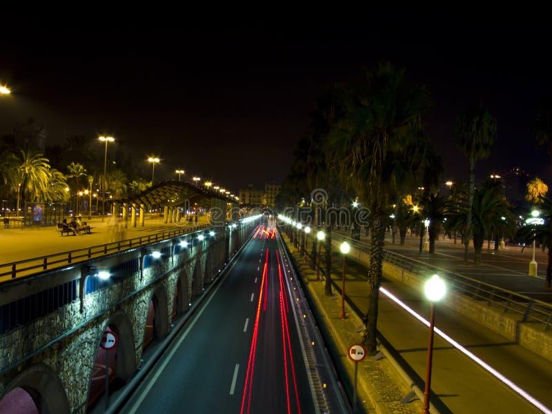 Download Traffic lights at night stock image. Image of luminous - 11285701