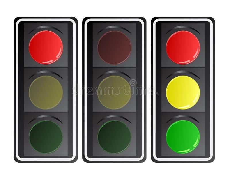 Traffic lights, vector royalty free illustration