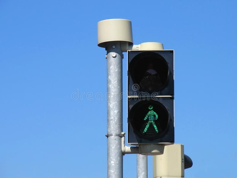 Traffic lights - walk stock images